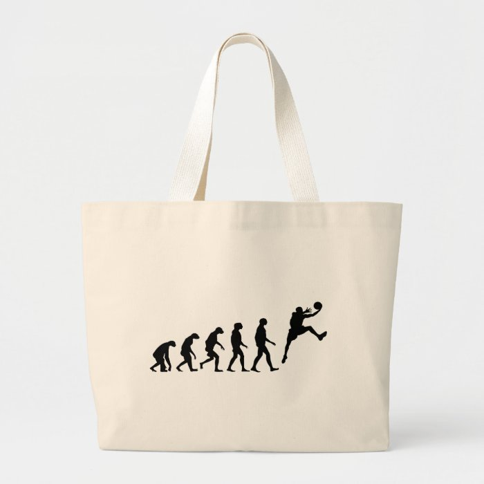 Evolution of Basketball Large Tote Bag