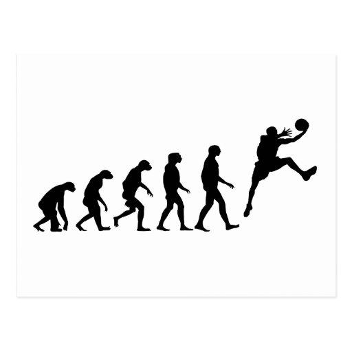 Evolution of Basketball Postcard