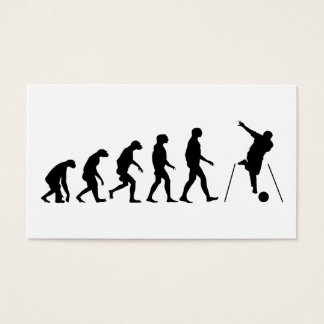 Evolution of Bowling Business Card