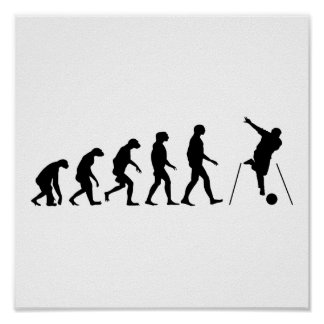 Evolution of Bowling Poster