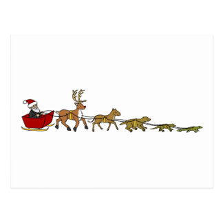 Evolution of Christmas Postcard