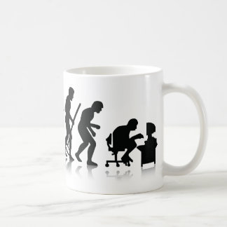 Evolution of Computer Addicts Classic White Coffee Mug