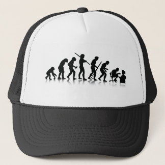 Evolution of Computer Addicts Trucker Hat