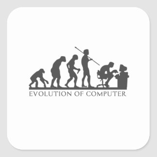 EVOlution OF COMPUTER Square Sticker