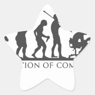 EVOlution OF COMPUTER Star Sticker