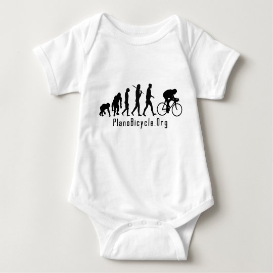 Evolution of Cycling Clean look Plano Logo Baby Bodysuit