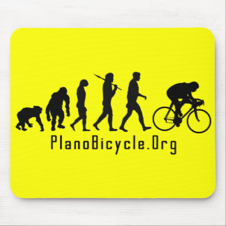 Evolution of Cycling Clean look Plano Logo Mouse Pad