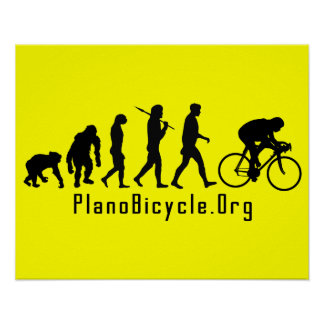 Evolution of Cycling Clean look Plano Logo Posters