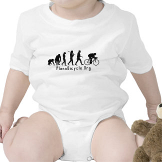 Evolution of Cycling Clean look Plano Logo Baby Bodysuits