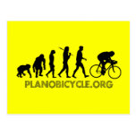 Evolution of Cycling Polka Dot Logo Cycle Gear Post Cards