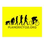 Evolution of Cycling Polka Dot Logo Cycle Gear Postcard