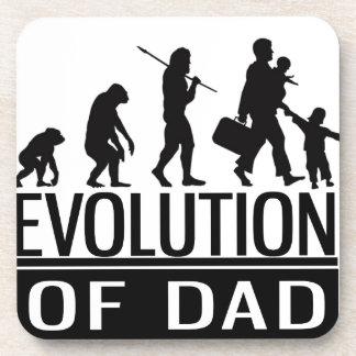evolution of dad beverage coaster