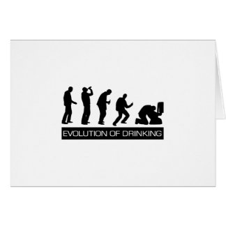 Evolution of Drinking Greeting Card