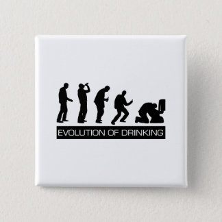 Evolution of Drinking Pinback Button