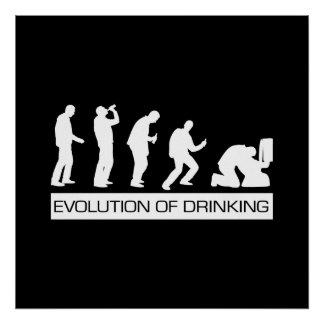 Evolution of Drinking Poster