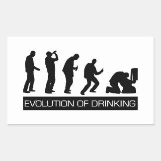 Evolution of Drinking Rectangular Sticker