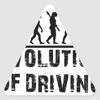 Evolution Of driving Triangle Sticker