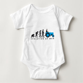 evolution OF far MER with tractor Baby Bodysuit