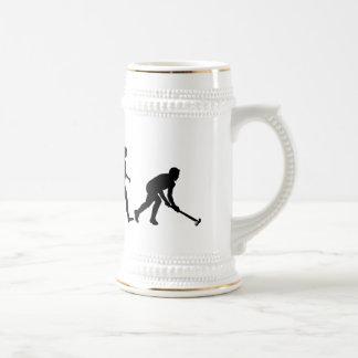 Evolution of Field hockey - Hockey gifts Beer Stein