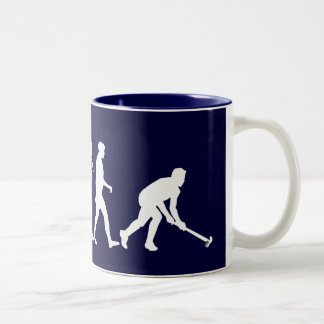 Evolution of Field hockey - Hockey gifts Two-Tone Coffee Mug