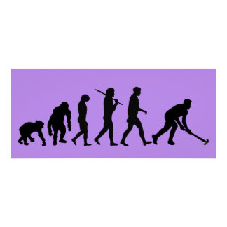 Evolution of Field hockey - Hockey sports fan Poster