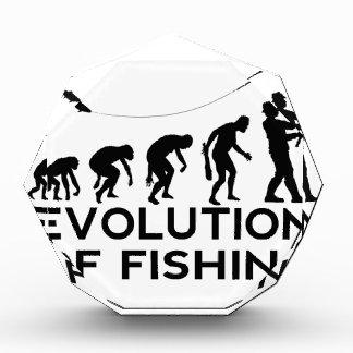evolution of fishing acrylic award