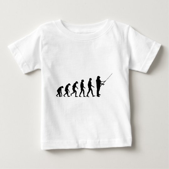 Evolution of Fishing Baby T-Shirt