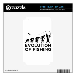 evolution of fishing decals for iPod touch 4G