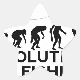 evolution of fishing star sticker