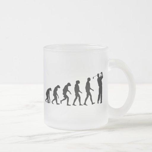 Evolution of Golf 10 Oz Frosted Glass Coffee Mug
