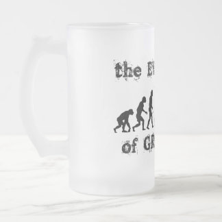 Evolution of Greatness Frosted Glass Mug