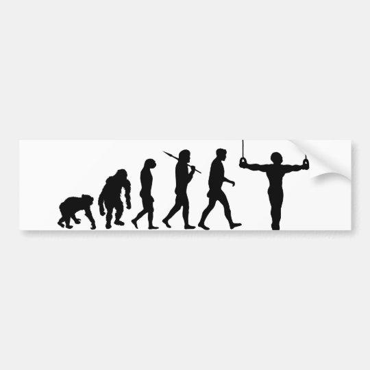 Evolution of Gymnastics Gymnasts gifts Bumper Sticker