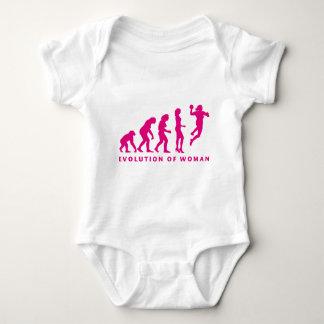 evolution OF hand ball woman Baby Bodysuit