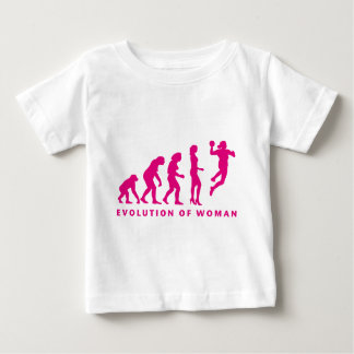 evolution OF hand ball woman Baby T-Shirt