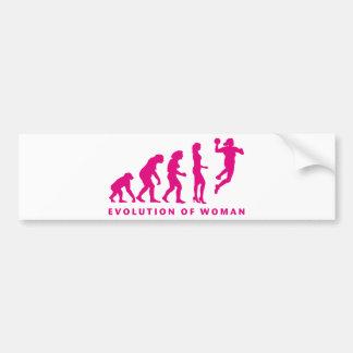 evolution OF hand ball woman Bumper Sticker