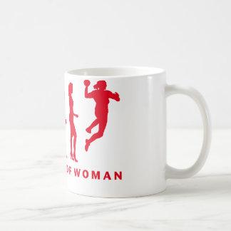 evolution OF hand ball woman Coffee Mug