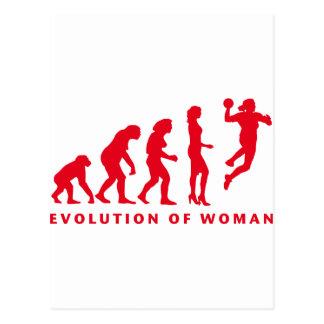 evolution OF hand ball woman Postcard