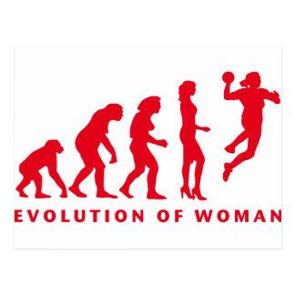 evolution of handball woman tarjetas postales