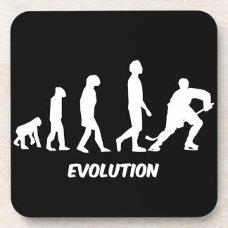 evolution of hockey beverage coaster