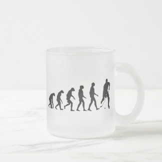 Evolution of Hockey Frosted Glass Coffee Mug