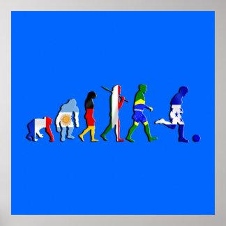 Evolution of Honduran football Honduras flag art Posters