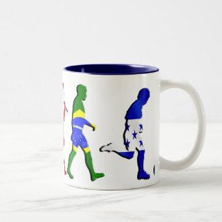 Evolution of Honduran football Honduras flag art Two-Tone Coffee Mug