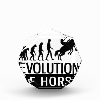evolution of horse acrylic award