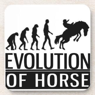 evolution of horse beverage coaster