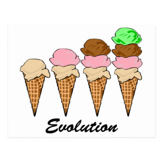 Evolution of Ice Cream Postcard