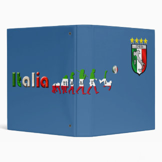 Evolution of Italian Football Italia Calcio gifts Binder