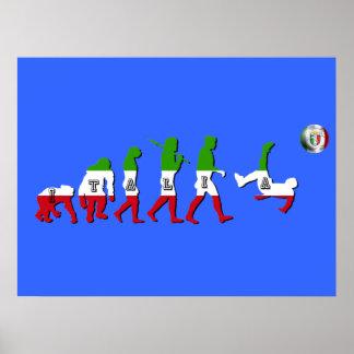 Evolution of Italian Football Italia Calcio gifts Poster