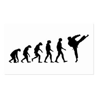 Evolution of Karate Business Card
