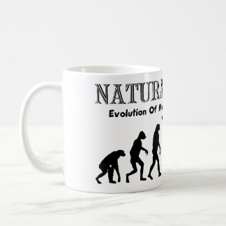 Evolution Of Liberated Man (Naturist Man) Coffee Mug