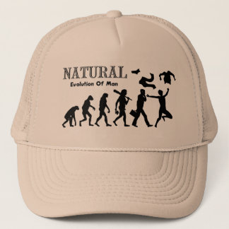 Evolution Of Liberated Man (Naturist Man) Trucker Hat
